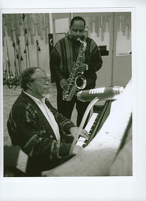 Ed Wiley Jr. - Wiley and Sir Roland Hanna during Brooklyn session, 2001.