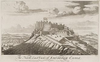 Union Jack - Slezer's Edinburgh Castle c.1693 depicting the Scottish Union Flag.