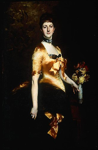 Lyon Playfair, 1st Baron Playfair - Edith, Lady Playfair (née Russell), John Singer Sargent, 1884