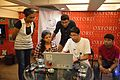 Editing Session - Wikilearnopedia - Oxford Bookstore - Kolkata 2015-08-23 3621.JPG