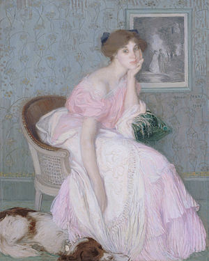Edmond Aman-Jean - Miss Ella Carmichaël, 1906