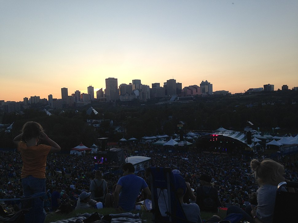 Edmonton Skyline from Folk Festival