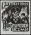 Een poster in Putten. De kustenaar Bezaan maakte een serie houtsnedes van de tra, Bestanddeelnr 120-0479.jpg