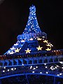 Eiffel Tower at night, Blue for EU preidancy switching to France (2640016502).jpg