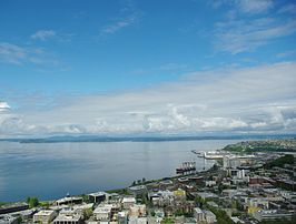 Elliott Bay vanuit de Space Needle