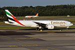 Emirates, A6-EFN, Boeing 777-F1H (27844850284).jpg