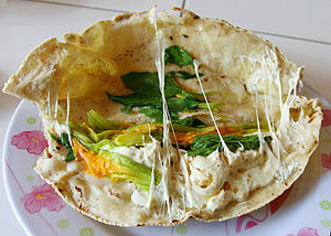 Calabaza - A quesadilla made with flor de calabaza, Oaxaca cheese and epazote