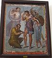 Enea ferito curato da iaspi alla presenza di afrodite e ascanio, da casa di sirico a pompei, 9009.JPG