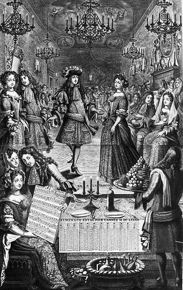 File:Engraving of a 1682 ball given by Louis XIV of France (Almanach royal).jpg