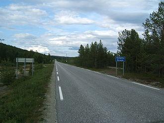 Karasjok - Entering Karasjok municipality
