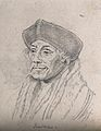 Erasmus. Drawing, c. 1792, after H. Holbein. Wellcome V0009255EL.jpg