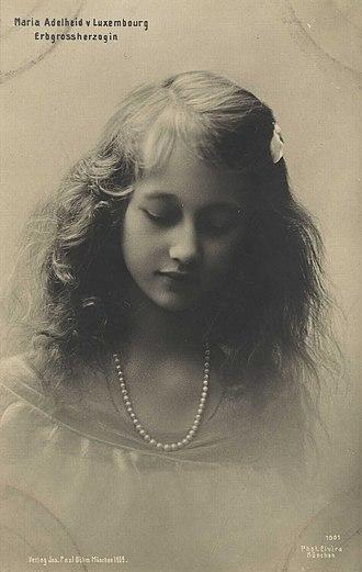 Marie-Adélaïde, Grand Duchess of Luxembourg - Princess Marie-Adélaïde (1909)