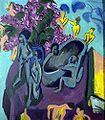 Ernst Ludwig Kirchner Stilleben mit Skulptur 1912.jpg