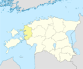 Estonia Lääne location map.png
