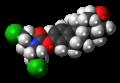 Estromustine molecule spacefill.png