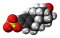 Estrone sulfate anion 3D spacefill.png
