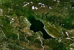 Vista satelital de la laguna (NASA)