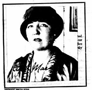 Ethel Mars (artist) - Ethel Mars, 1924 (passport photo)