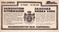 Etiketa Saidchitzer-Zaječická Česko-Německy 1899.png