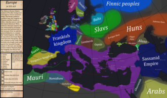 The Byzantine Empire in 555 AD, under Justinian I Europe-In-555AD.png
