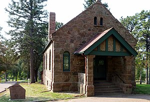Evergreen Cemetery (Colorado Springs, Colorado) - Image: Evergreen Cemetery Chapel