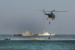 MARCOS - Operational demonstration of the Indian Navy involving covert operations by the Marine Commandos
