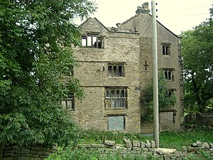 Listed buildings in Briercliffe - Image: Extwistle Hall geograph.org.uk 1534855