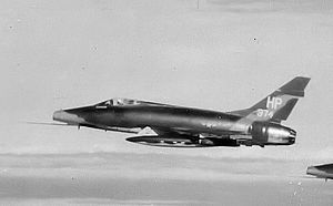 37th Training Wing - 355th TFS North American F-100D-80-NH Super Sabre Serial 56-3374 on a mission into North Vietnam from Phu Cat AB