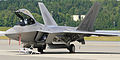 F-22 Raptor on the apron at Elmendorf (5232740184).jpg