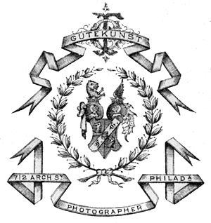 Frederick Gutekunst - Coat of Arms from the back of a Gutekunst cabinet card.