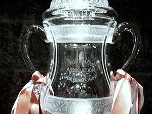 Dartington Crystal - A 46cm high replica FA Cup at Dartington Crystal