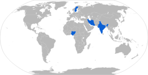 Haubits FH77 - Map with FH77 operators in blue