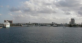 Florida State Road A1A - State Road A1A as it runs over the 17th Street Causeway in Ft. Lauderdale.