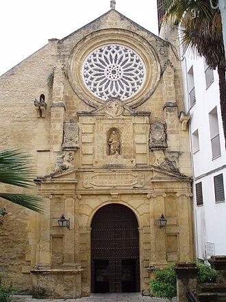 San Pablo, Córdoba - Façade of the church.