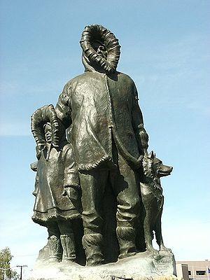 History of Fairbanks, Alaska - Monument to the first settlers of Fairbanks.