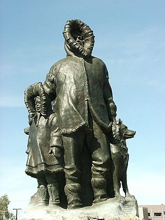 History of Fairbanks, Alaska - Monument to the first settlers of Fairbanks.