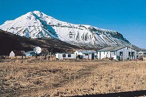 Aleutians East Borough, Alaska - An area in the city of False Pass, Alaska, looking north.
