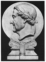 Gioachino Rossini. Marmor-Medaillon von H. Chevalier für das Foyer der Pariser Oper, 1865. (Quelle: Wikimedia)
