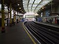 Farringdon station Underground look north.JPG