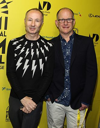 World of Wonder (production company) - Filmmakers Fenton Bailey and Randy Barbato at the Miami International Film Festival presentation of Mapplethorpe: Look at the Pictures (2016). Photo: David Heischrek