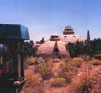 Robert Williams (geometer) -  Ferro-cement experimental architecture based on principles of Catenatic Geometry: Mojave Desert, California,