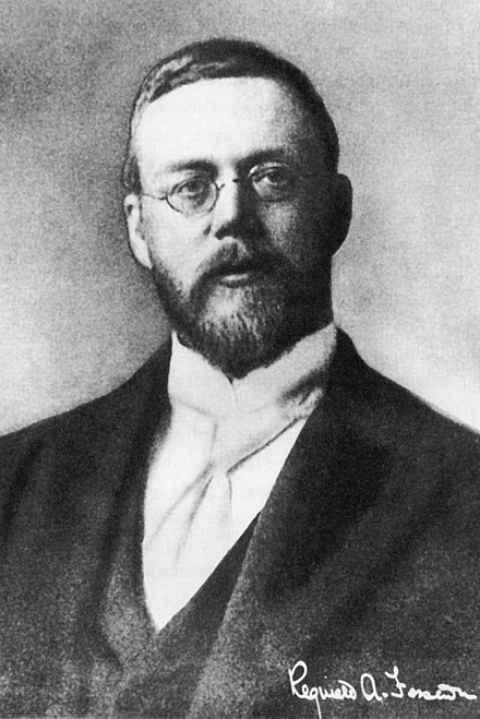 Reginald Fessenden, the father of radio broadcasting in the US. Fessenden.JPG