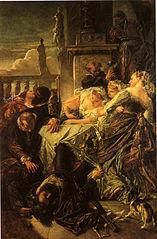 Der Tod des Dichters Pietro Aretino