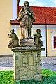Figura św. Jana Nepomucena przed kościołem św. Klemensa w Ustroniu.JPG