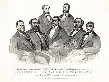 First American Colored Senator and Representatives