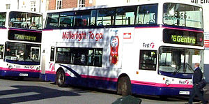 Public transport in Bristol - Livery of First West of England buses in Bristol