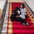 First Lady Michelle Obama with dogs Bo and Sunny in the White House on January 17, 2017, her birthday.jpg
