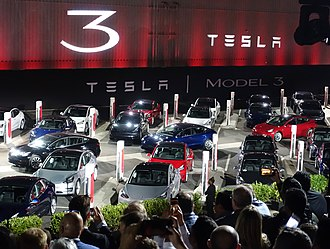 Tesla, Inc. - The Tesla Model 3 first deliveries event took place on 28 July 2017.