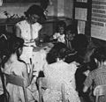 First grade students at George Cannon School Midway in 1959.jpg