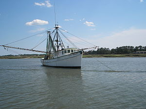 Fishing industry in the United States - Fishing boat at Tybee Island, Georgia
